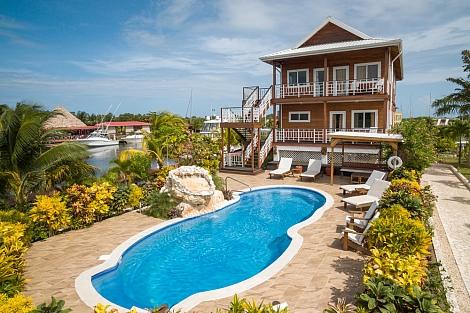 Casa De La Paz on Roberts Grove Marina Placencia Belize Rentals